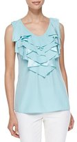 Lafayette 148 New York Rianne Ruffled Silk Top
