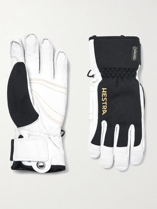 Hestra Army Two-Tone Leather And Gore-Tex Ski Gloves