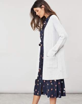 Joules ELIZABETH Textured long line Cardigan