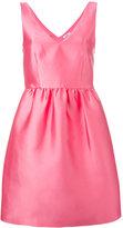 P.A.R.O.S.H. V-neck sleeveless dress - women - Polyester/Silk/Acetate/Viscose - M