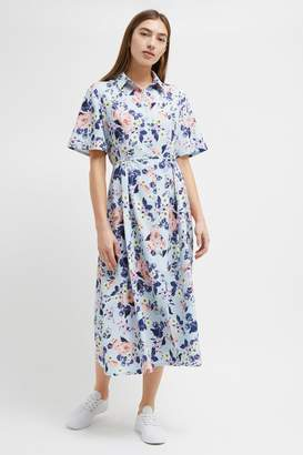 French Connenction Cerisier Crepe Midi Shirt Dress