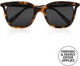 Victoria Beckham Cut Away Square Sunglasses-Tortoiseshell