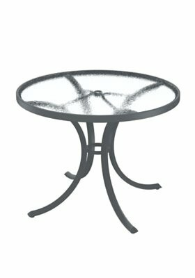"""Site Furnishings Round 27.5"""" Table Tropitone Finish: Graphite, Table Size: 36"""" L x 36"""" W"""