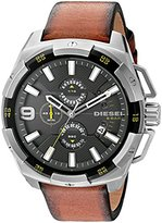 Diesel Men's DZ4393 Heavyweight Stainless Steel Brown Leather Watch