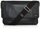 Jack Spade Pebbled Leather Zip Messenger Bag