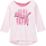 Puma 3/4 Length Sleeve Scoop Back Top (Big Girls)