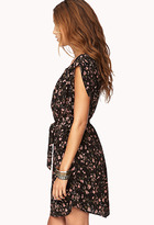 Forever 21 Whimsy Floral Shift Dress w/ Sash