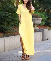 Z Avenue Women's Maxi Dresses yellow - Yellow Maxi Dress - Women