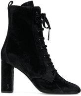 Saint Laurent LouLou 95 lace-up boots