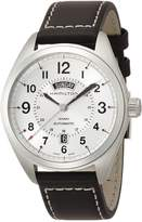 Hamilton Men's H70505753 Khaki Field Analog Display Mechanical Hand Wind Black Watch