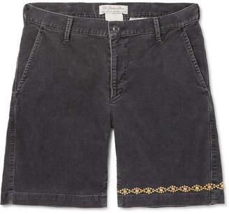 Remi Relief Slim-Fit Embellished Cotton-Blend Corduroy Shorts