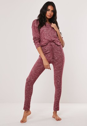 Missguided Rose Soft Knit Long Sleeve Loungewear Tracksuit