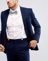 Asos Wedding Floral Bow Tie & Braces Set