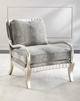 John-Richard Collection Clyde Python Print Lounge Chair