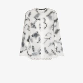 Susan Fang Layered feather organza jacket