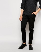 Asos Skinny Trousers In Smart Fabric