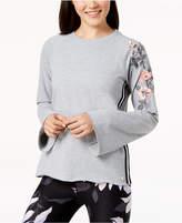 Calvin Klein Floral-Trim Sweatshirt