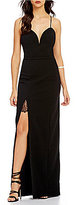 Lovers + Friends Cordoba High Slit Spaghetti Strap Crepe Maxi Dress