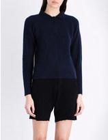 The Elder Statesman Collared cashmere-blend jumper