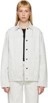 Helmut Lang Off-White Denim Oversized Destroy Jacket