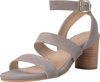 Kaanas Women's Noosa Open Toe Heeled Ankle Strap Sandal Shoe Flat