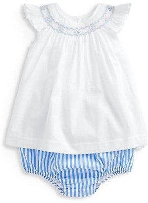 Ralph Lauren Baby Girl's 2-Piece Smocked Top & Bloomers Set