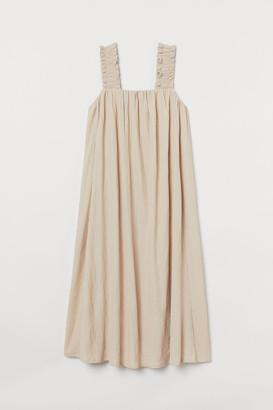 H&M Bow-detail A-line Dress - Beige