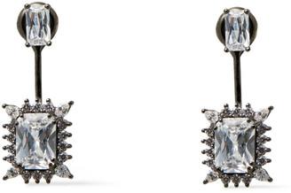 Noir Gunmetal-tone Crystal Earrings