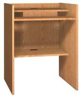 "Ash Glacier Reversible Desk Ironwood Size: 46.13"" H x 36"" W x 30"" D, Finish: Amber"