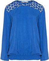 Studio Plus Size Crochet lace blouse