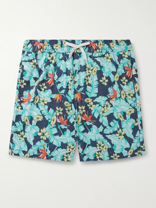 Onia Charles 7 Mid-Length Printed Swim Shorts