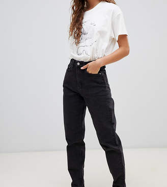 Weekday Rigid high waist mom jean with organic cotton in black