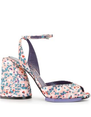 No.21 Daisy-Print Block-Heel Sandals