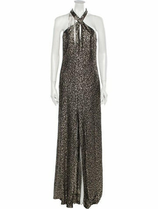 Lanvin Silk Long Dress w/ Tags Black