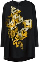 Ann Demeulemeester front detail oversized T-shirt - men - Cotton - XL