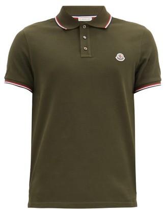 Moncler Logo-patch Cotton-pique Polo Shirt - Khaki