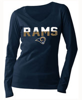 5th & Ocean Women's Los Angeles Rams Huddle LE Long Sleeve T-Shirt