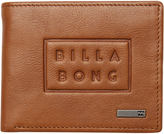 Billabong Die Cut Flip Leather Wallet Brown