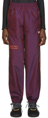 Adidas Originals By Alexander Wang Purple You For E Yeah Exceed The Limit Track Pants