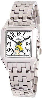 Disney Collection Tinker Bell Womens Silver Tone Stainless Steel Bracelet Watch-W000472