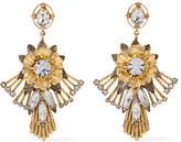 Elizabeth Cole Alisanne 24-karat gold-plated crystal earrings