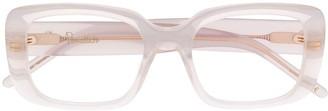 Pomellato Eyewear Transparent Rectangular Frame Glasses