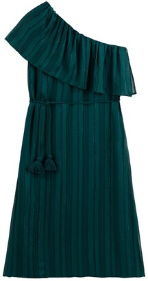 Vanessa Seward X La Redoute Collections Asymmetric Ruffled Dress