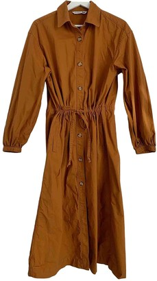 Uniqlo Orange Cotton Dress for Women