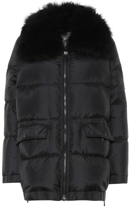 Yves Salomon Shearling-trimmed down coat