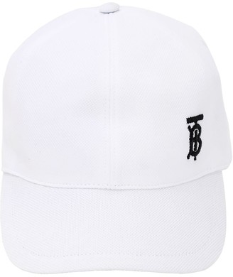 Burberry EMBROIDERY COTTON PIQUE BASEBALL HAT