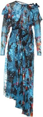 Preen by Thornton Bregazzi Stephanie fil coupe silk-blend dress