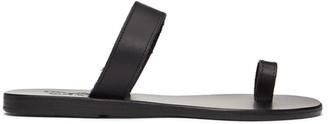 Ancient Greek Sandals Black Thalia Sandals