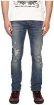 Just Cavalli Essential Distressed Five-Pocket Denim Men's Jeans