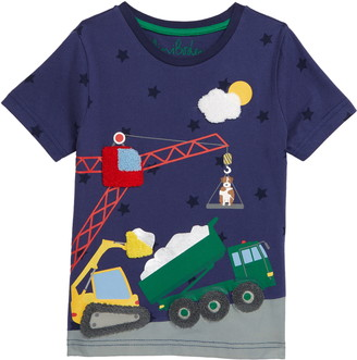 Boden Kids' Vehicle Scene T-Shirt